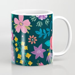 Floral Heart Coffee Mug