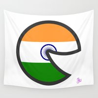india Wall Tapestries featuring India Smile by onejyoo