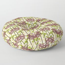 Modern Foral Chevron Floor Pillow