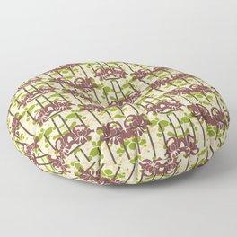 Modern Foral Chevron Floor Pillow