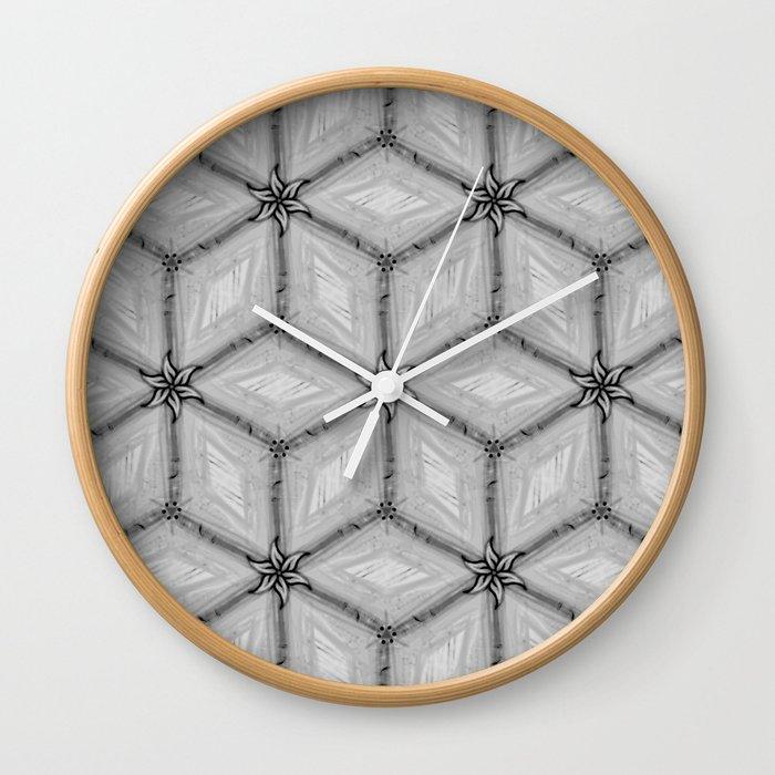 GRAY TILES Wall Clock