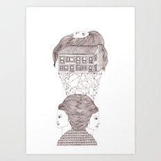 North, East, West Art Print