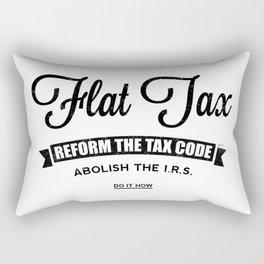 Flat Tax Rectangular Pillow
