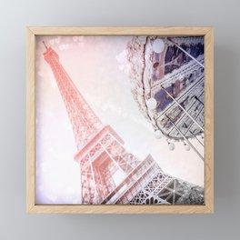 Shimmering Pink Paris Memories Framed Mini Art Print