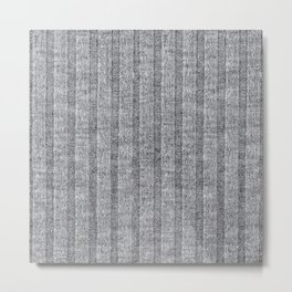Soft Grey Jersey Knit Pattern Metal Print
