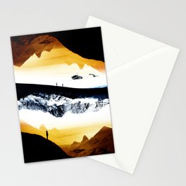 Hiking for Blue Isolation Stationery Cards