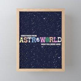 ASTROWORLD TRAVIS SCOT Framed Mini Art Print