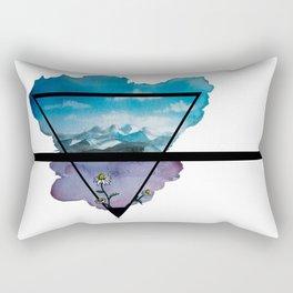 Flowers and Mountains Rectangular Pillow