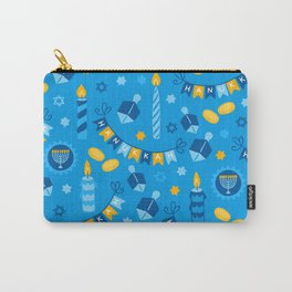 Happy Hanukkah Banner Pattern Carry-All Pouch