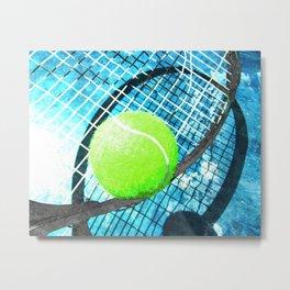 Tennis print work vs 4 Metal Print