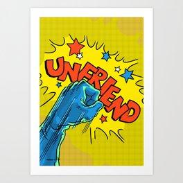 Comic Hands - Unfriend Art Print
