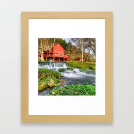 Hodgson Water Mill - Missouri - Square Format Framed Art Print