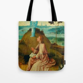 "Hieronymus Bosch ""St. John the Evangelist on Patmos"" Tote Bag"