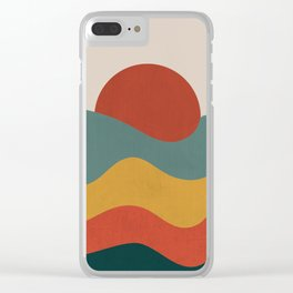 Mountain Dream Vintage Clear iPhone Case