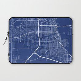 Beaumont Map, USA - Blue Laptop Sleeve