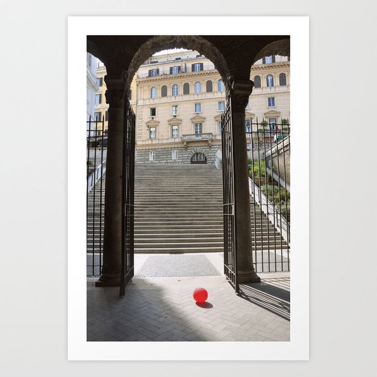 Red Ballon Art Print