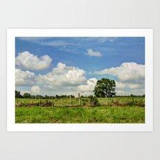 Country Hill Art Print