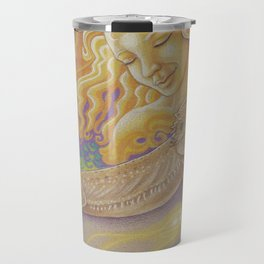 Sun And Dragon, Bearded Dragon Art Travel Mug