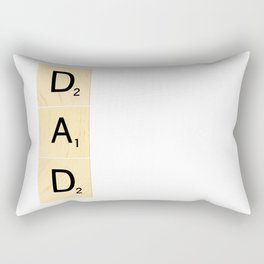 DAD - Vertical Scrabble Tile Art and Accessories for Father's Day Rectangular Pillow
