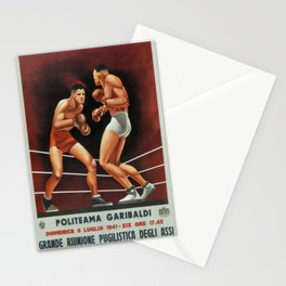 Vintage poster - Boxing Stationery Cards