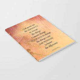 Serenity Prayer Quince and Fence One Notebook