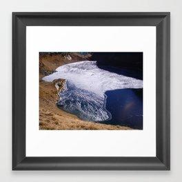 Lake Eye Framed Art Print