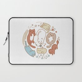 Seven cute cats. Laptop Sleeve