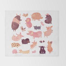Pig Pig Pig Throw Blanket