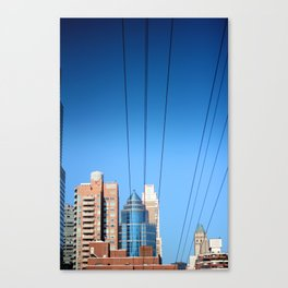 Buildings and Power Lines Canvas Print