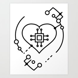 Artificial intelligence Art Print