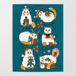 Christmas cats Poster