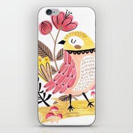 Little Birdy on a Log iPhone Skin