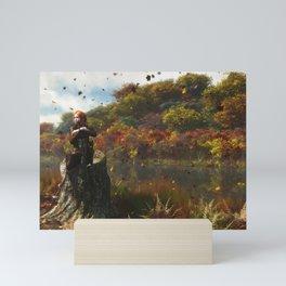 The River in Autumn Mini Art Print