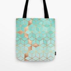 Soft Gradient Aquamarine Tote Bag