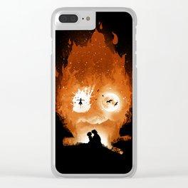 Midnight Calcifer Clear iPhone Case