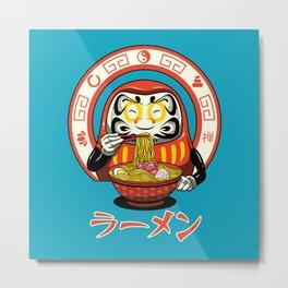 Daruma Zen Ramen Metal Print