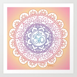 Peaceful Ohm Mandala Art Print