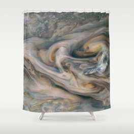 Luminous clouds of Jupiter mission flyby telescopic photograph Shower Curtain