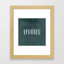 Devoted Themselves Framed Art Print