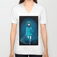 return V-neck T-shirts featuring return someday by imaginary flower