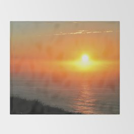 Sunrise over South Pacific Ocean Throw Blanket