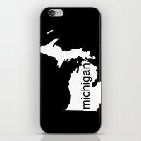 michigan iPhone & iPod Skins featuring Michigan by Isabel Moreno-Garcia