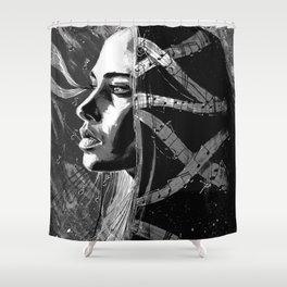 Fiona Apple b&w Shower Curtain