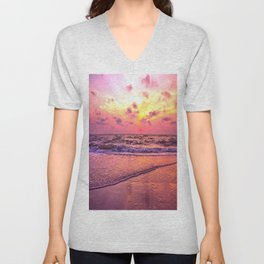 A View For the Soul Sunset Unisex V-Neck