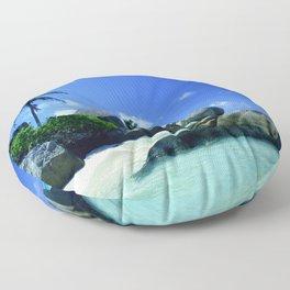 Seychelles Islands: Tropical Heaven Floor Pillow