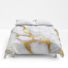 Italian gold marble II Comforters