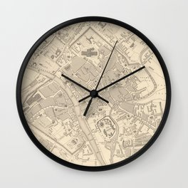 Vintage Map of York England (1851) Wall Clock