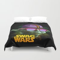 swag Duvet Covers featuring Yoda Swag by Heretic