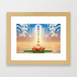 Sacred Lotus - The Seven Chakras First Edition .I Framed Art Print