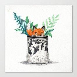 Fox Pot Canvas Print